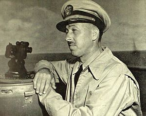 Frank Peak Akers - Commander of the USS Saratoga (CV-3) (circa 1945)