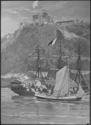 Capture of the French Privateer Sandwich by armed Marines on the Sloop Sally, from the U.S. Frigate Constitution, Puerto - NARA - 532590
