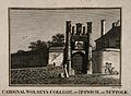 Cardinal Wolsey's College, Ipswich, Suffolk. Line engraving Wellcome V0012771.jpg