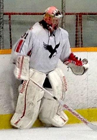 Carleton Ravens - Carleton goaltender Francis Dupuis during 2013-14 season vs. Windsor Lancers.