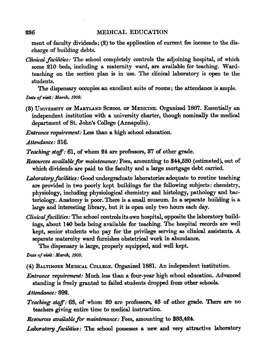 Page:Carnegie Flexner Report djvu/254 - Wikisource, the free online