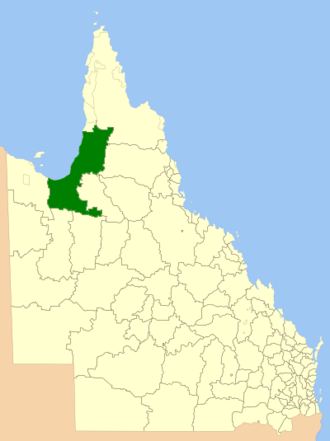 Shire of Carpentaria - Location within Queensland