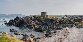 Isle of Doagh - Carrickabraghy Castle.