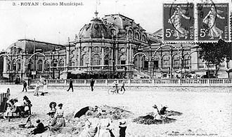 Royan - The casino in 1895, destroyed in 1945