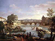Caspar van Wittel - Castel Sant'Angelo from the South - WGA25823.jpg
