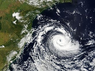 Granular computing - Satellite view of cyclone.