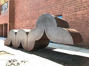 Norman Carlberg - Caterpillar (1976) in front of Dallas F. Nicholas Sr. Elementary School in Baltimore, MD.