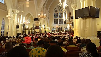 Cathedral Church of Christ, Lagos - Interior of Church of Christ