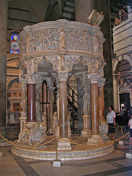 http://upload.wikimedia.org/wikipedia/commons/thumb/7/77/Cathedral_pulpit_-_Pisa.jpg/450px-Cathedral_pulpit_-_Pisa.jpg