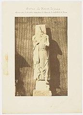Photographie des statues de Henri le Jeune et du duc-roi Henri-Court-Martel de la cathédrale de Rouen