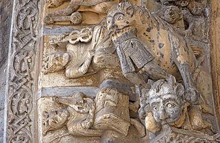Cathedrale Sainte-Marie Oloron portail avaleur