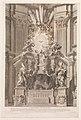 Cathedram S. Petri in interiore templi fronte...Plate 41 from the Album 'Basilica di S. Pietro in Vaticano' MET DP273760.jpg