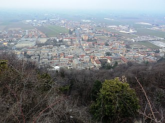 Cavour, Piedmont - Cavour seen from its Rocca