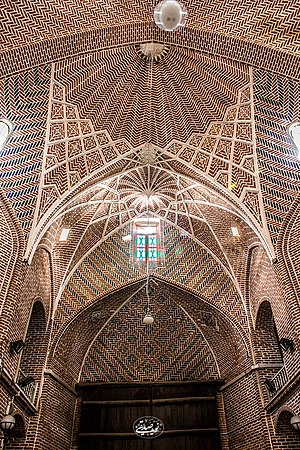 Bazaar of Tabriz - Ceiling of Mozaffariyeh, Bazzar of Tabriz, IRAN