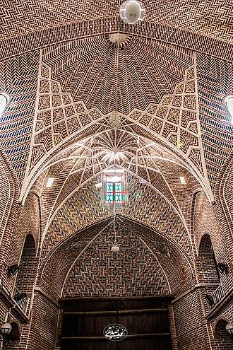 Bazaar of Tabriz - Ceiling of Mozaffariyeh, Bazzar of Tabriz, IRAN
