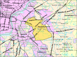 Census Bureau map of Cherry Hill, New Jersey.