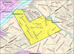 Census Bureau map of Delran Township, New Jersey