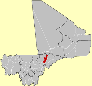 Location of the Cercle of Mopti in Mali