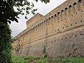 Cesena, rocca malatestiana, mura con vista della torre maestra.JPG