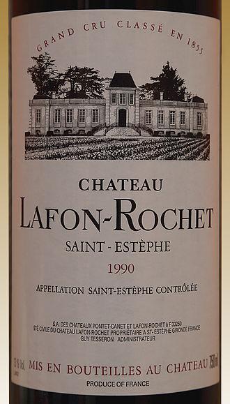 Château Lafon-Rochet - Image: Château Lafon Rochet 1990 J2