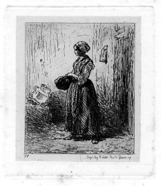 Charles Jacque - Etching
