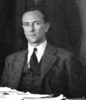 Discovery of the neutron - James Chadwick at the 1933 Solvay Conference.  Chadwick had discovered the neutron the year before while working at Cavendish Laboratory.
