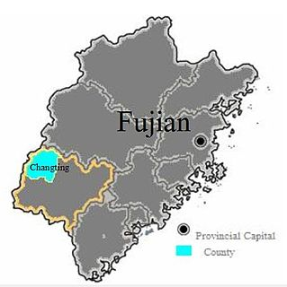 Changting County County in Fujian, Peoples Republic of China