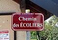 Chapeiry - Chemin des Écoliers (plaque).jpg
