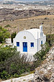 Chapel at the crater rim near Akrotiri - Santorini - Greece - 01.jpg