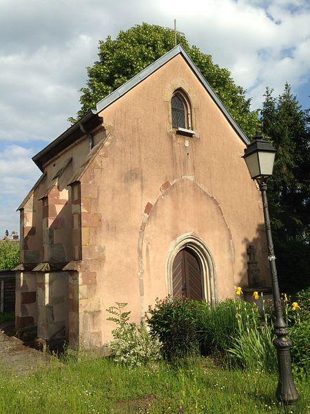 La chapelle Sainte-Barbe de Folpersviller, érigée en 1423 par l'ordre des Chevaliers Teutoniques