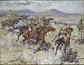Charge of the 2nd Lancers at El Afuli - in the Valley of Armageddon, 5 am, Friday 20th September 1918 Art.IWMART2501.jpg