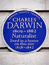 Charles Darwin 1809-1882 naturalist lived in a house on this site 1838-1842.jpg