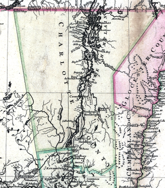 Charlotte County, Province of New York - Charlotte County in 1777