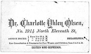 Charlotte Yhlen - Image: Charlotte Yhlen business card