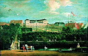Charlottenborg Palace - Charlottenborg painted by Jacob Coning in 1694 as seen from the garden.