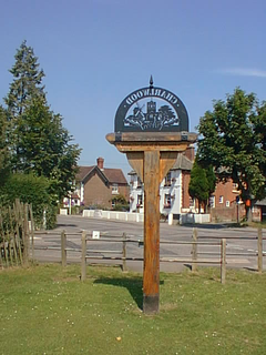Charlwood village in the United Kingdom