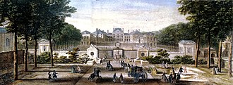 Château de Sceaux - A coloured engraving of Sceaux in the 1740s