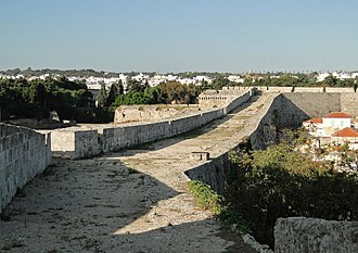 Fortifications of Rhodes - Chemin de ronde on the Southern Walls