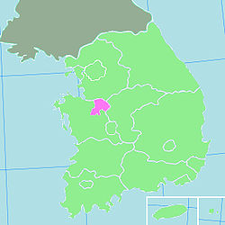 Location of Cheonan