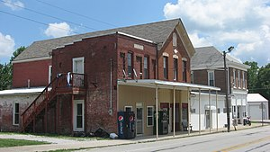 Lexington, Indiana - Businesses in the center of the community