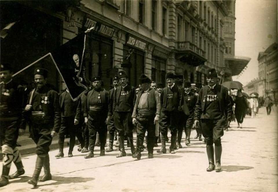 Chetniks in Belgrade, 1920