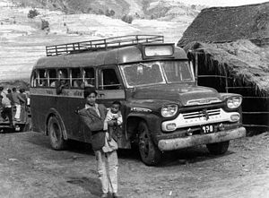 Nepal Transport Service - 1959 model Chevrolet Viking bus of Nepal Transport Service in 1961.