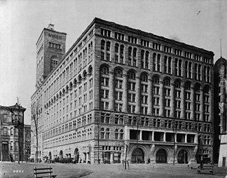 Auditorium Theatre - The Auditorium Building in 1890