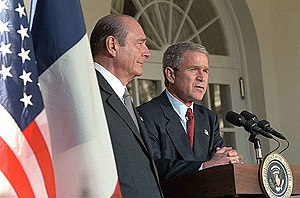 Jacques Chirac's second term as President of France - Jacques Chirac with George W. Bush, President of the United States of America.