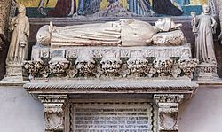 Choir of Santi Giovanni e Paolo (Venice) - Monument to doge Michele Morosini - Close-up.jpg
