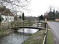 Cholderton, footbridge over the Bourne - geograph.org.uk - 1163691.jpg