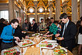 Chowing down at Google Opening Reception.jpg