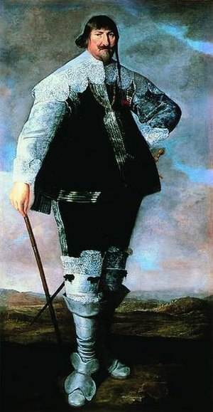 Abraham Wuchters - Christian IV of Denmark portrayed by Abraham Wuchters shortly after his arrival i Denmark