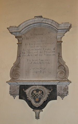 Christopher Pitt - Christopher Pitt Memorial, Blandford Church