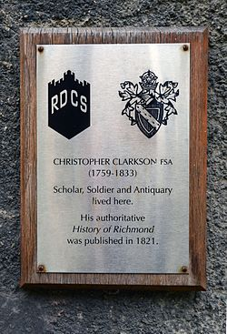 Photo of Christopher Clarkson brushed metal plaque